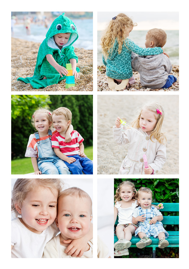 Create a personalised photo card 6 Photos With Text