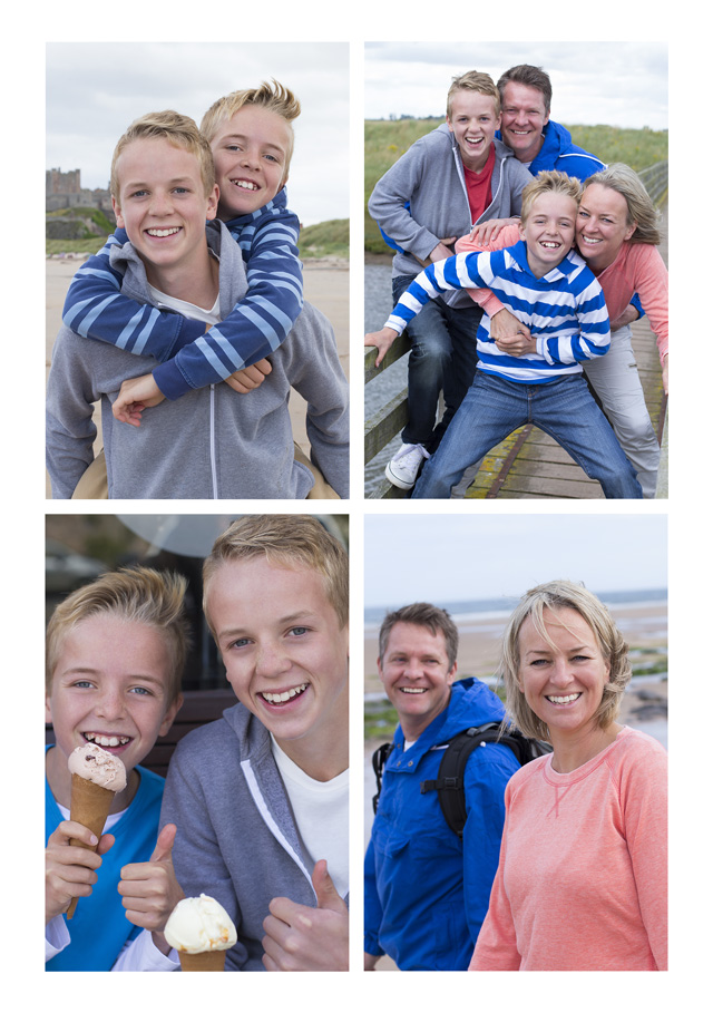 Create a personalised photo card 4 Photos No Text