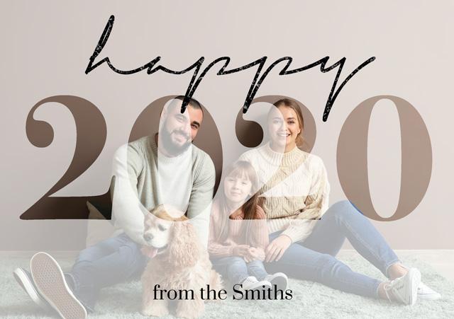 Create a Real Photo Photo Christmas Card Happy 2020 Card
