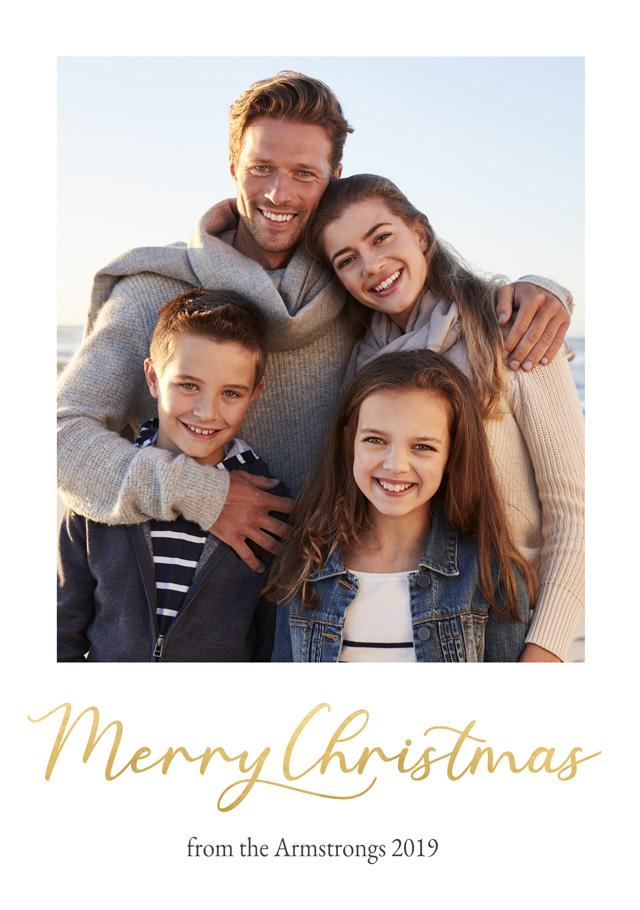 Create a Real Photo Photo Christmas Card Christmas Script Portrait Card