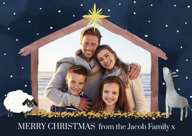 Create a Real Photo Photo Christmas Card Stable Card