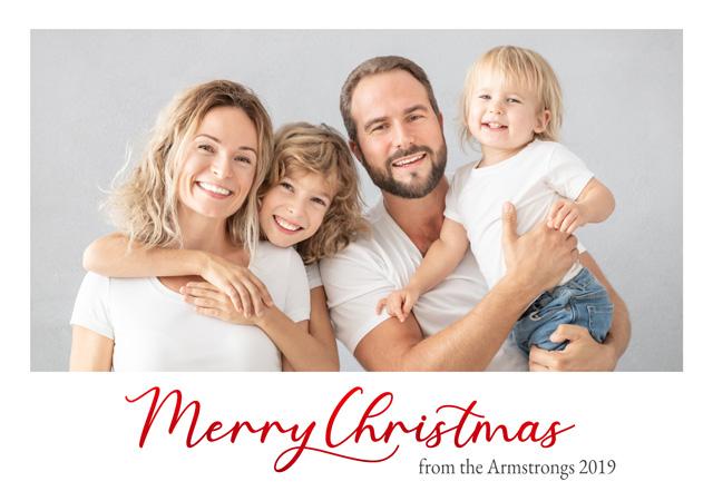 Create a Real Photo Photo Christmas Card Script Landscape Card