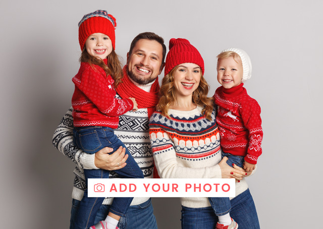 Create a Real Photo Photo Christmas Card One Photo Landscape Card