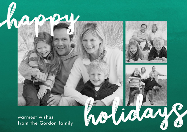 Create a Real Photo Photo Christmas Card Collage Happy Holidays Card