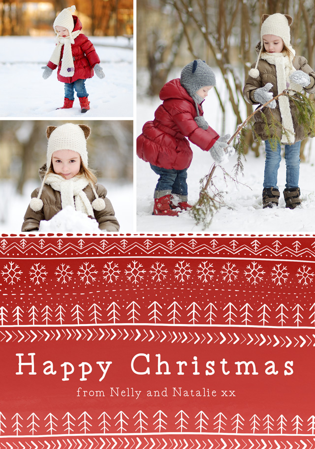 Create a Real Photo Photo Christmas Card Collage Nordic Card