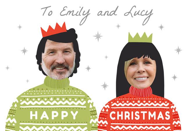 Create a Real Photo Photo Christmas Card Christmas Jumpers Card