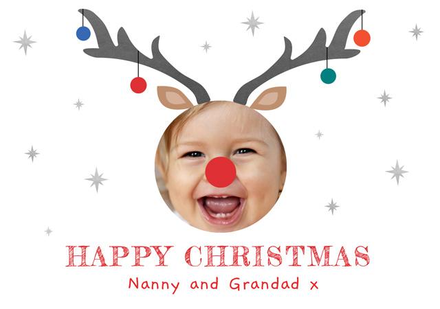 Create a Real Photo Photo Christmas Card Reindeer Card