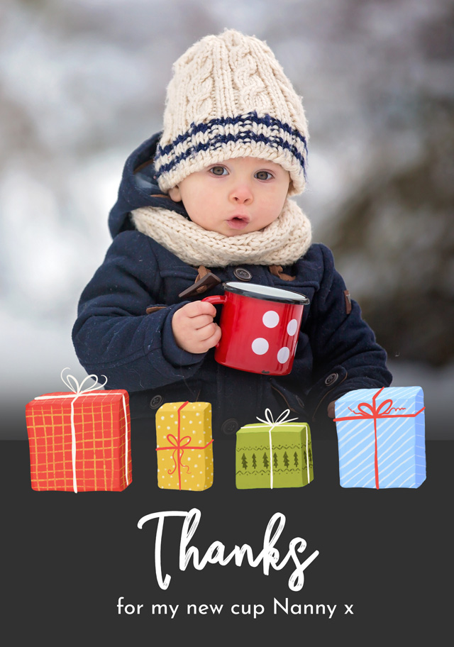 Create a Real Photo Photo Thank You Card Presents Card