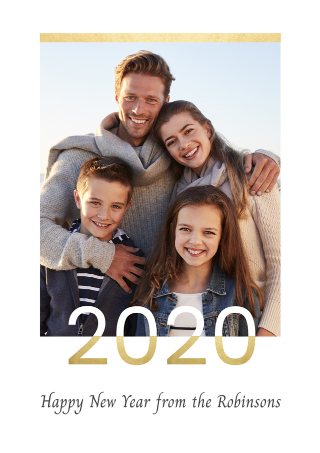 Create a Real Photo 2020 Gold Portrait Card