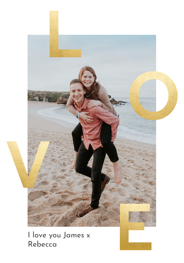 Create a Real Photo Photo Card Love Foil Effect Card