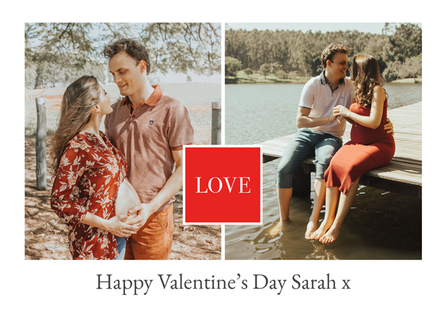 Create a Real Photo Photo Card Valentines Love Square Card