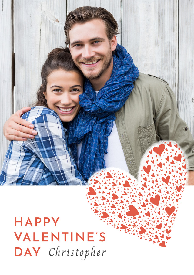 Create a Real Photo Photo Card Valentines Heart Of Hearts Card