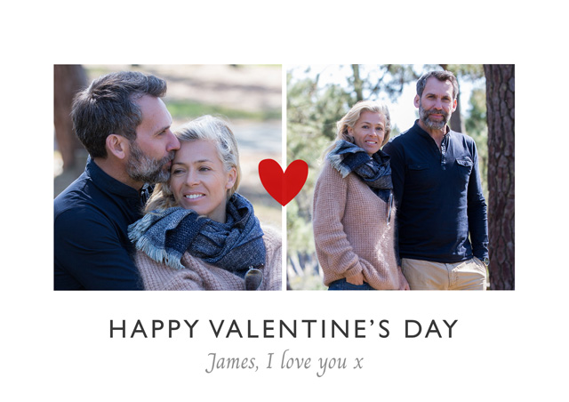 Create a Real Photo Photo Card Valentines Mini Red Heart Card