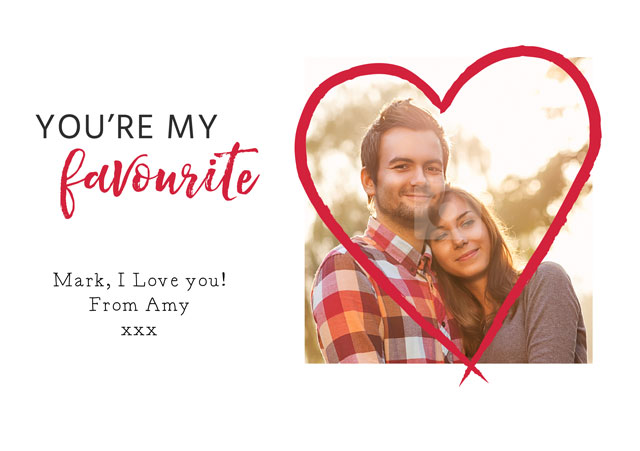 Create a Real Photo Photo Card Valentines Big Heart Card