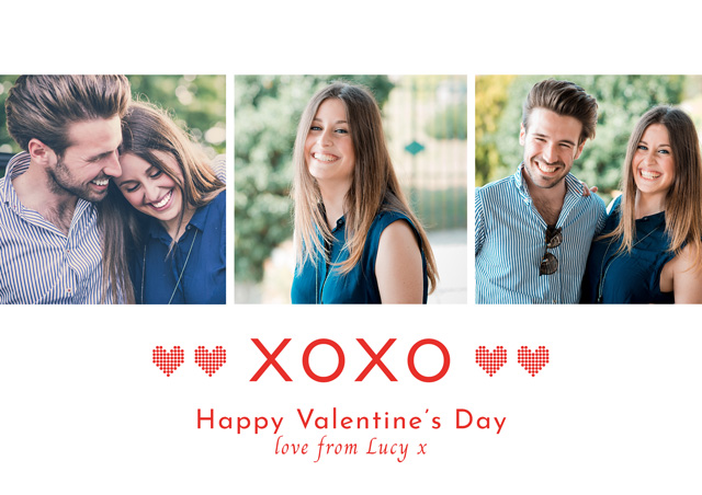 Create a Real Photo Photo Card Valentines Xoxo Card