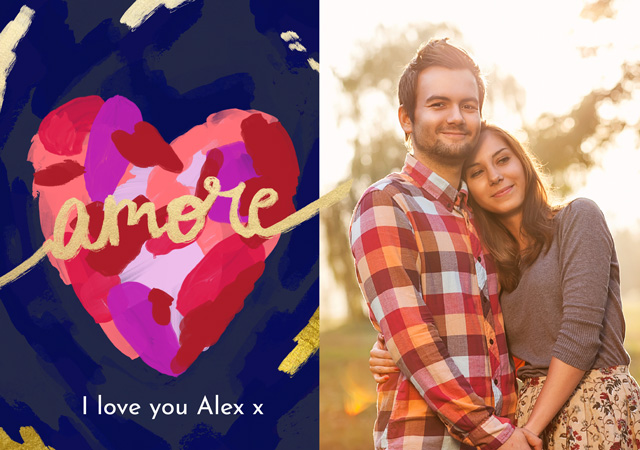 Create a personalised photo card Photo Card Love Amore