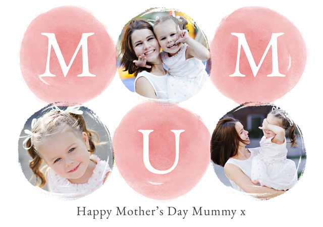 Create a Real Photo Photo Mother's Day Card Watercolour Mum Card