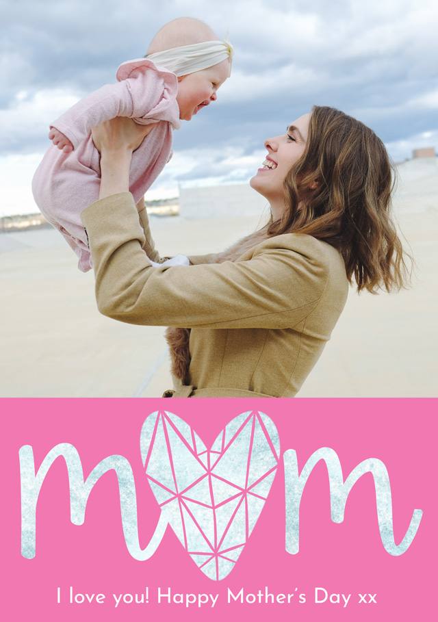 Photo Mother's Day Card Diamond