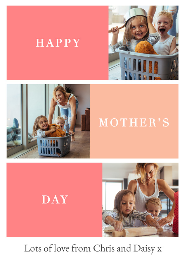 Create a Real Photo Photo Mother's Day Card Happy Mother's Day Card