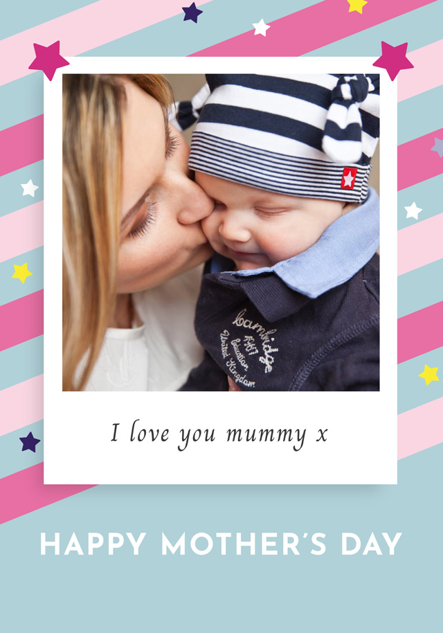 Create a Real Photo Photo Mother's Day Card Retro Card