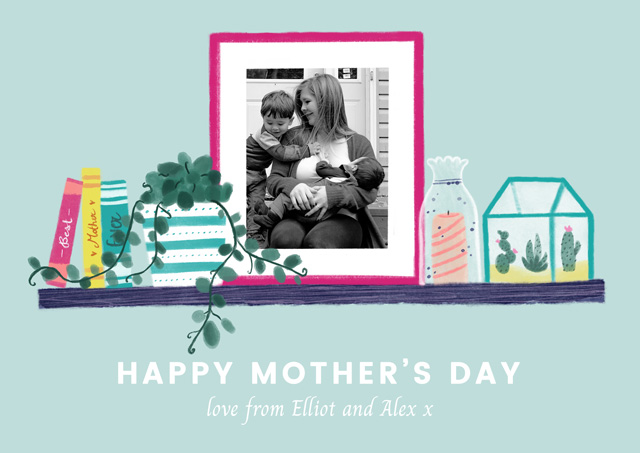 Create a Real Photo Photo Mother's Day Card Photo Frame Card