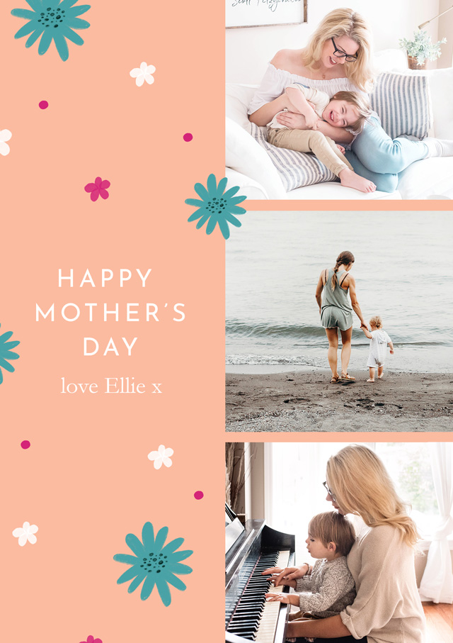 Create a Real Photo Photo Mother's Day Card Contemporary Card