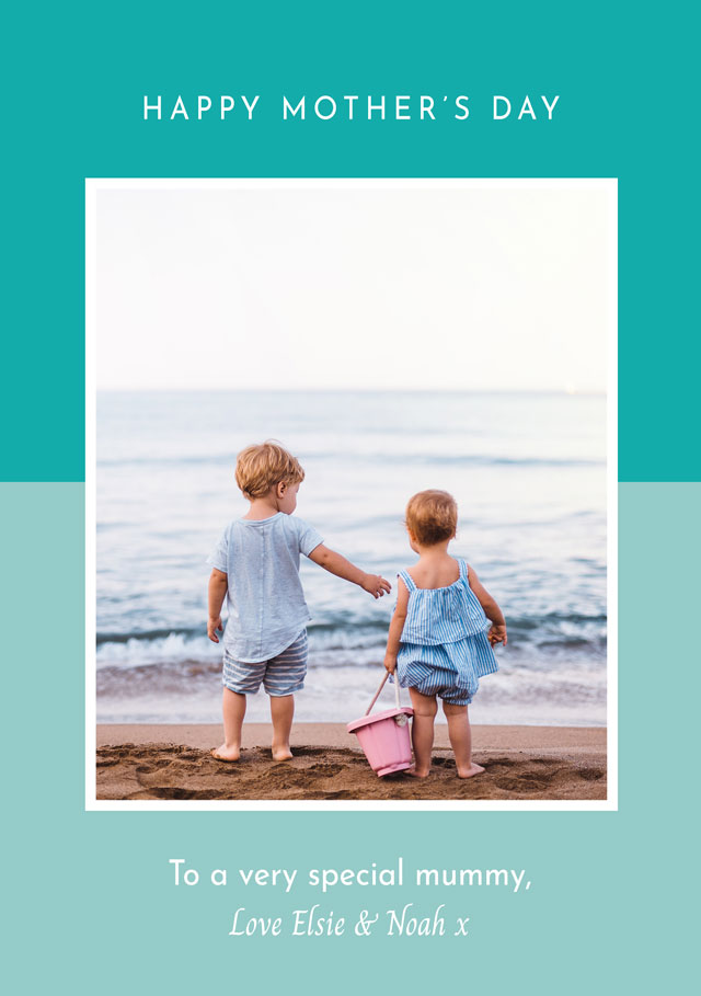Create a Real Photo Photo Mother's Day Card Two Tone Card