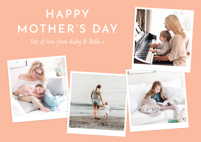 Create a personalised photo card Photo Mother's Day Card Retro