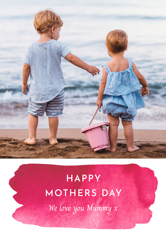 Create a Real Photo Photo Mother's Day Card Watercolour Card