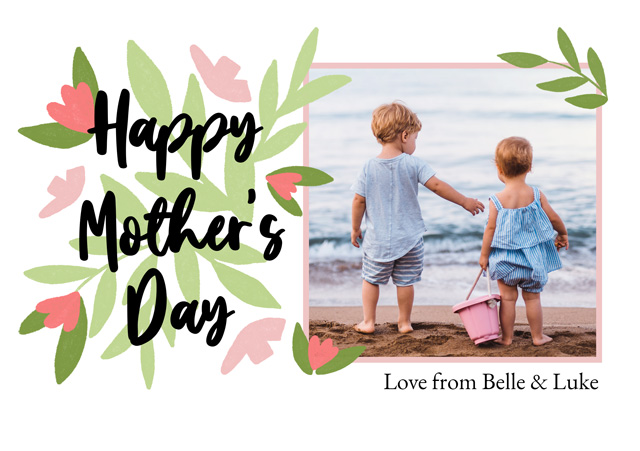 Create a Real Photo Photo Mother's Day Card Flowers Card