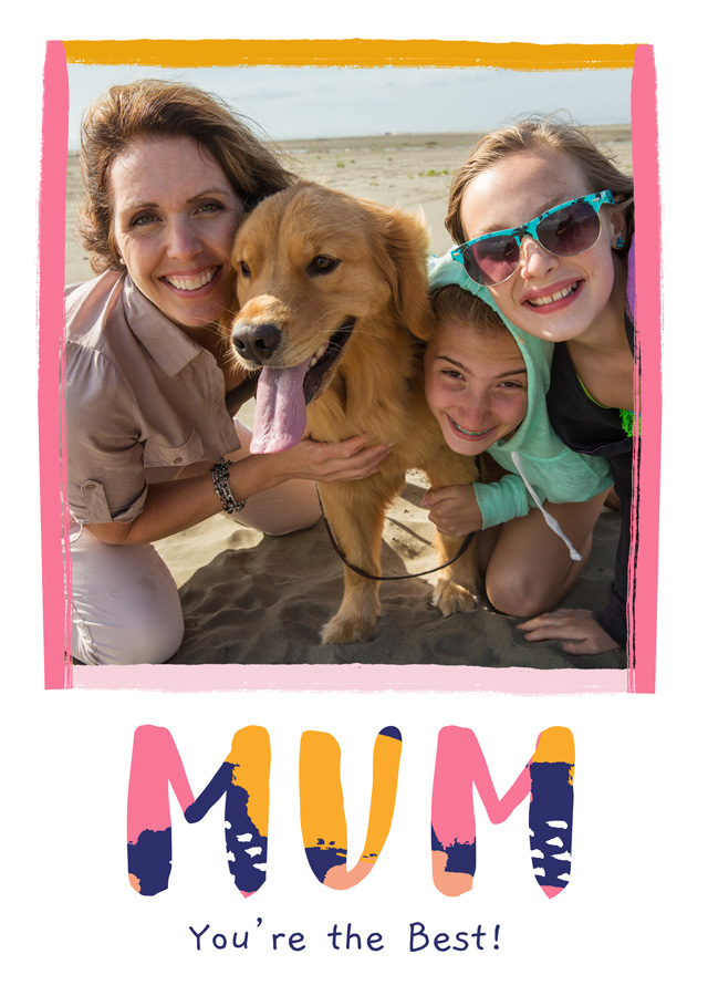 Create a personalised photo card Photo Mother's Day Card Modern Mum