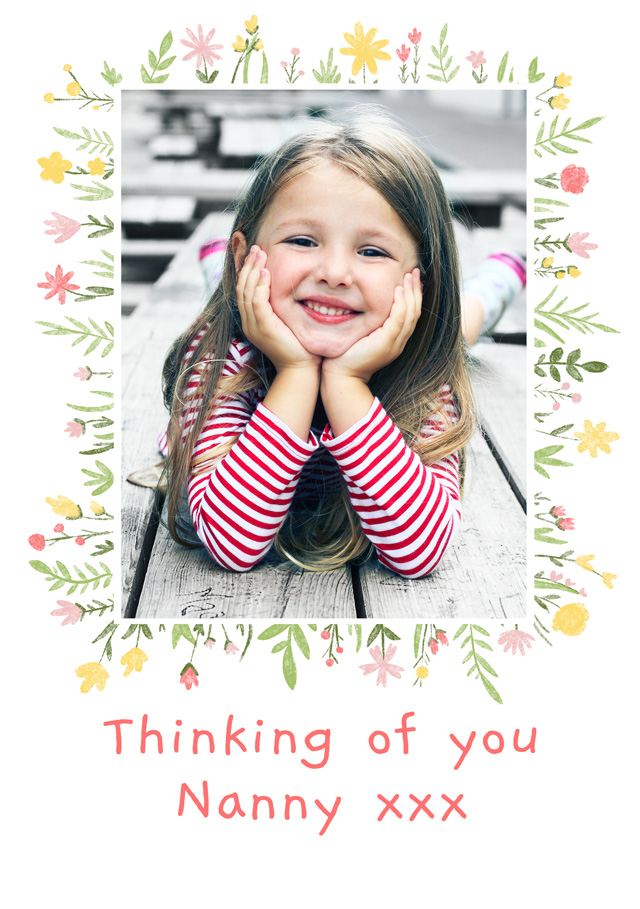 Create a Real Photo Photo Thinking Of You Card Portrait Photo Card
