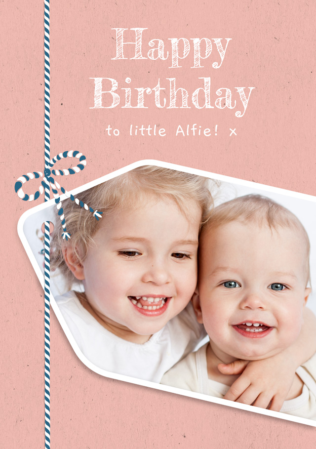 Create a Real Photo Photo Birthday Card Gift Tag Card