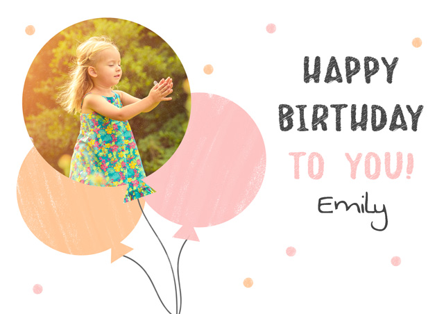 Create a Real Photo Balloons Card