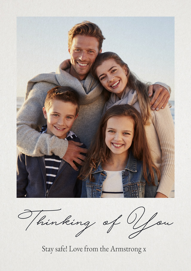Create a Real Photo Photo Thinking Of You Card Script Card