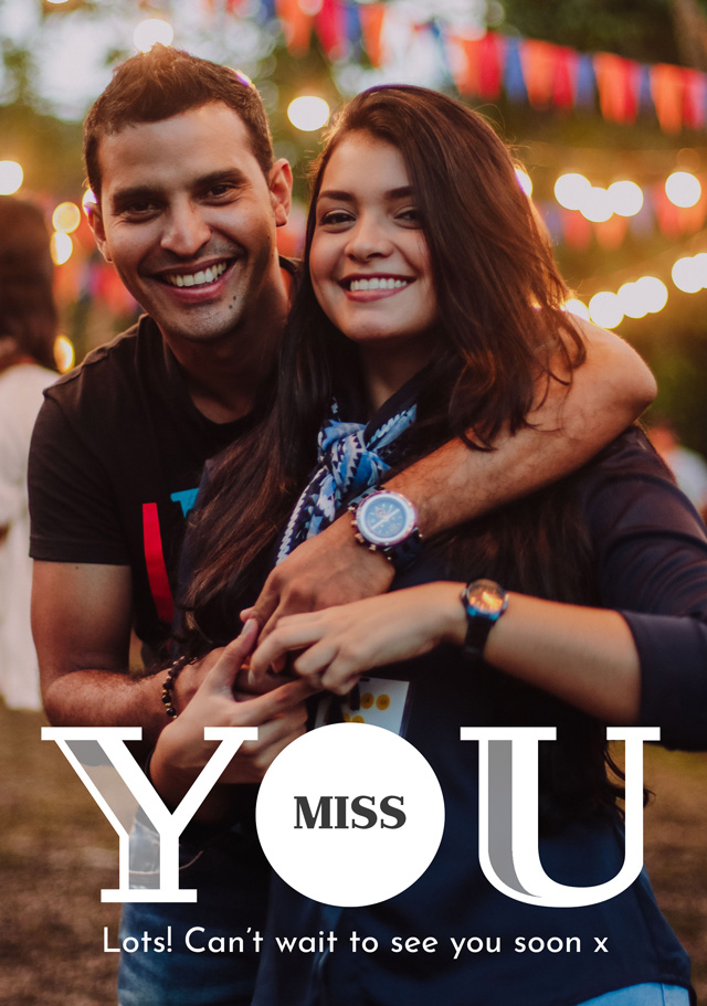 Create a Real Photo Photo Thinking Of You Card Miss You Card