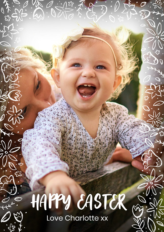 Create a personalised photo card Photo Easter Card Script