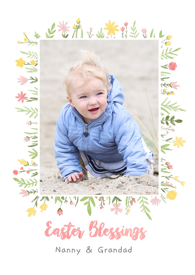 Create a Real Photo Photo Easter Card Blessings Card
