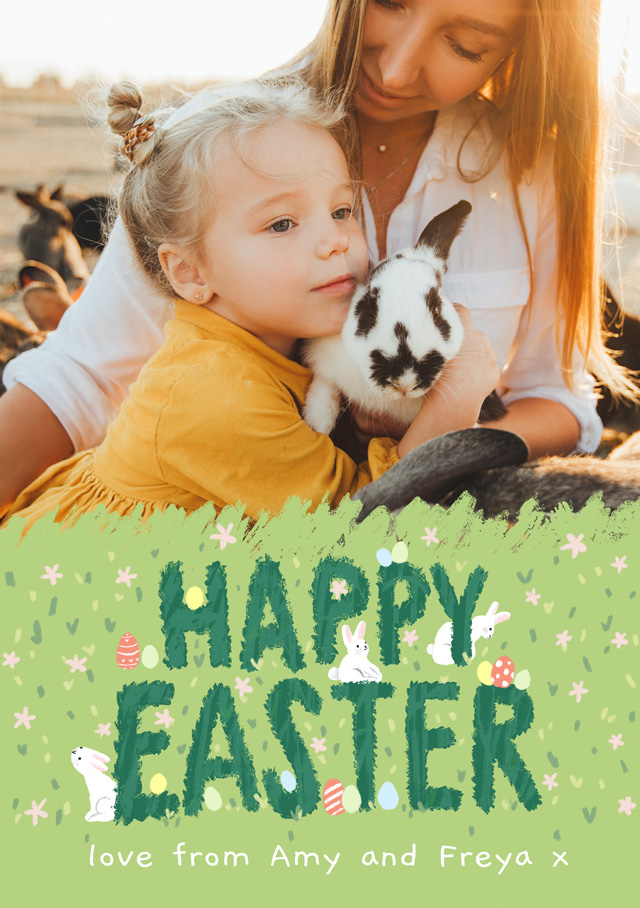 Create a Real Photo Photo Easter Card Spring Into Easter Card