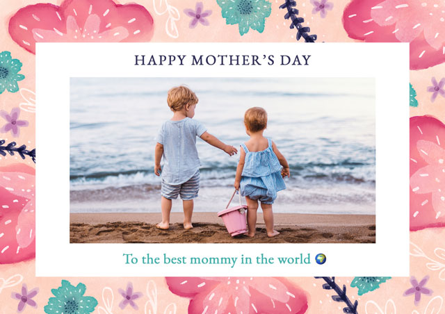 Create a Real Photo Photo Mother's Day Card Favourite Flowers Card