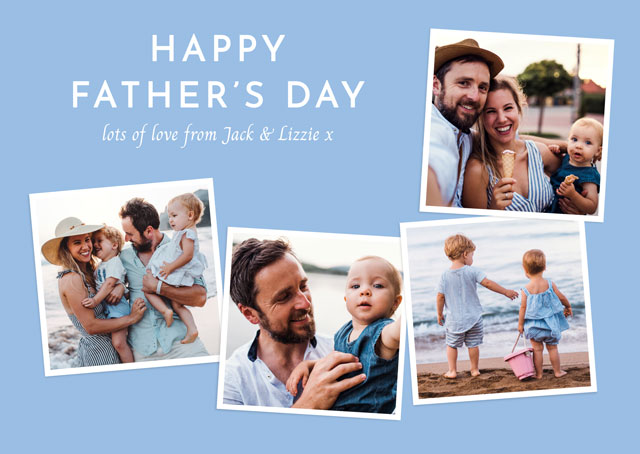 Create a Real Photo Photo Father's Day Card Square Photos Collage Card