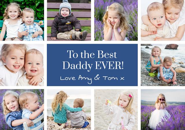 Create a Real Photo Collage 10 Photos Card