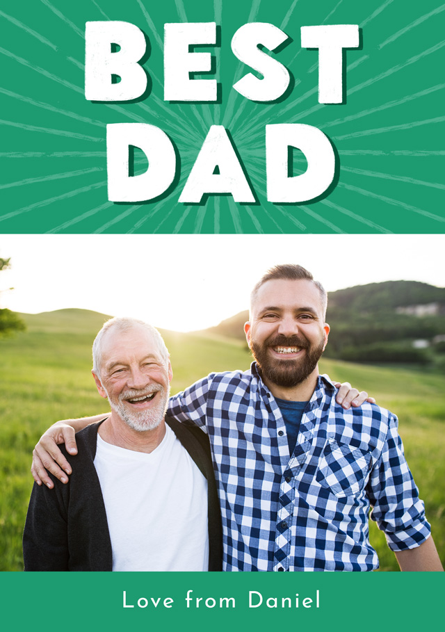 Create a Real Photo Photo Father's Day Card Best Dad Card