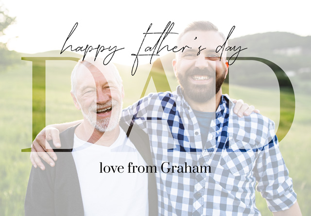 Create a Real Photo Photo Father's Day Card Dad Transparent Photo Card