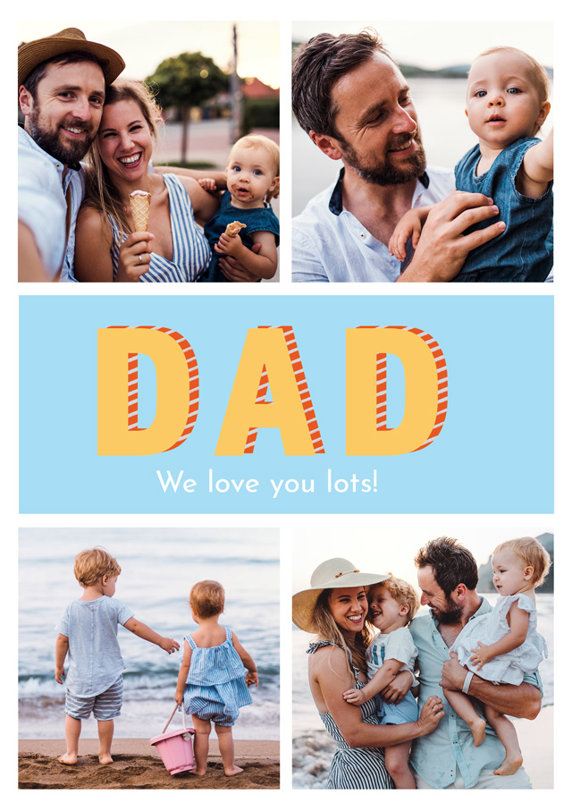 Create a Real Photo Photo Father's Day Card Dad Modern Collage Card