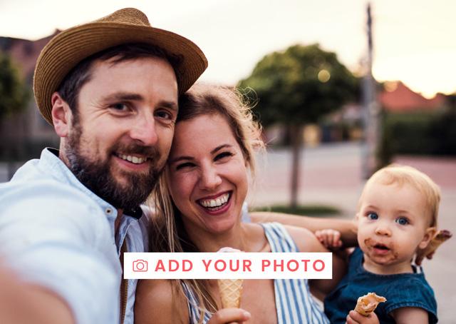 Create a Real Photo Photo Card One Photo Landscape Card