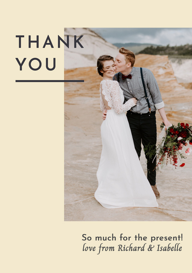 Create a Real Photo Photo Thank You Card Modern Side Photo Card