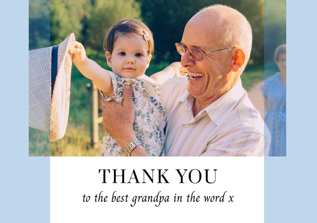 Photo Thank You Card Transparent Bands