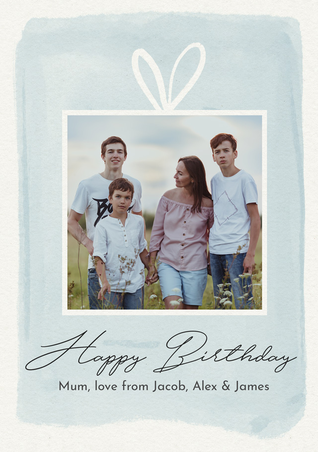 Create a Real Photo Photo Birthday Card Watercolour Gift Card