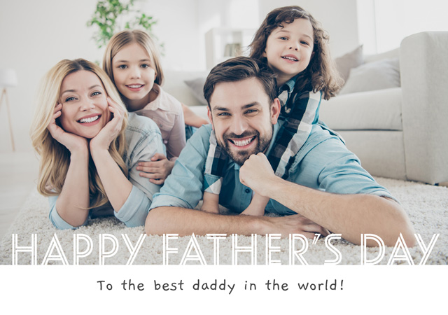 Create a Real Photo Photo Father's Day Card Happy Father's Day Band Card